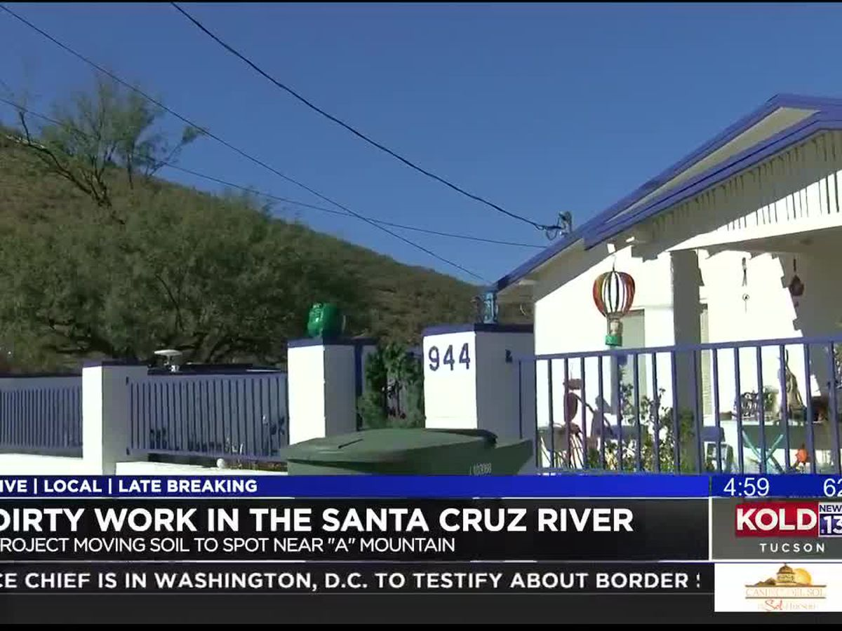 Could soil from the Santa Cruz River move to old A Mountain landfill?