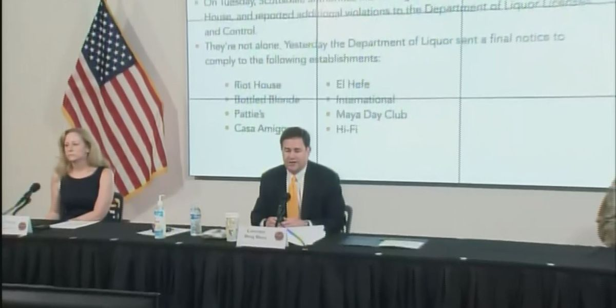 Governor Ducey calls out restaurants and bars, reminds them to follow rules