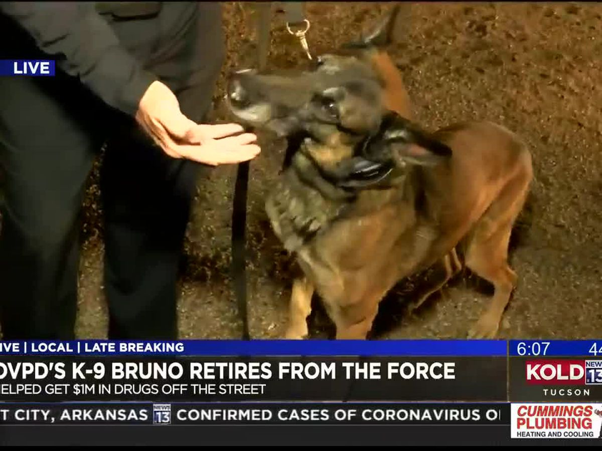 Video for retiring Oro Valley PD K-9 Bruno goes viral