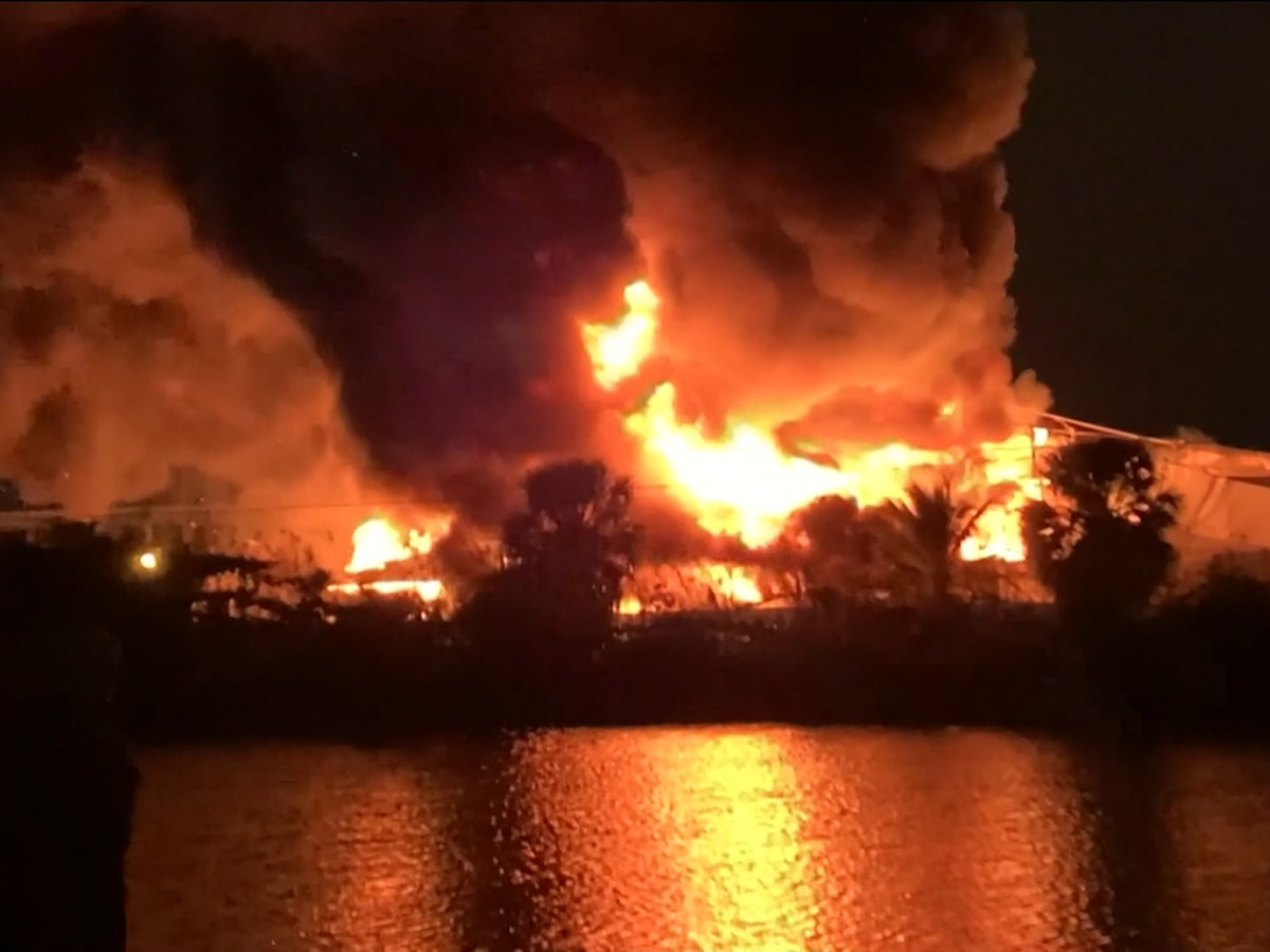 WATCH: Two yachts worth more than $20 million destroyed in marina fire