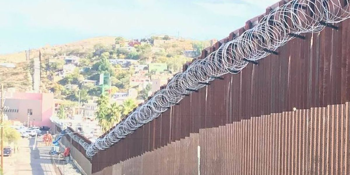 More razor wire but few immigrants on border in Nogales