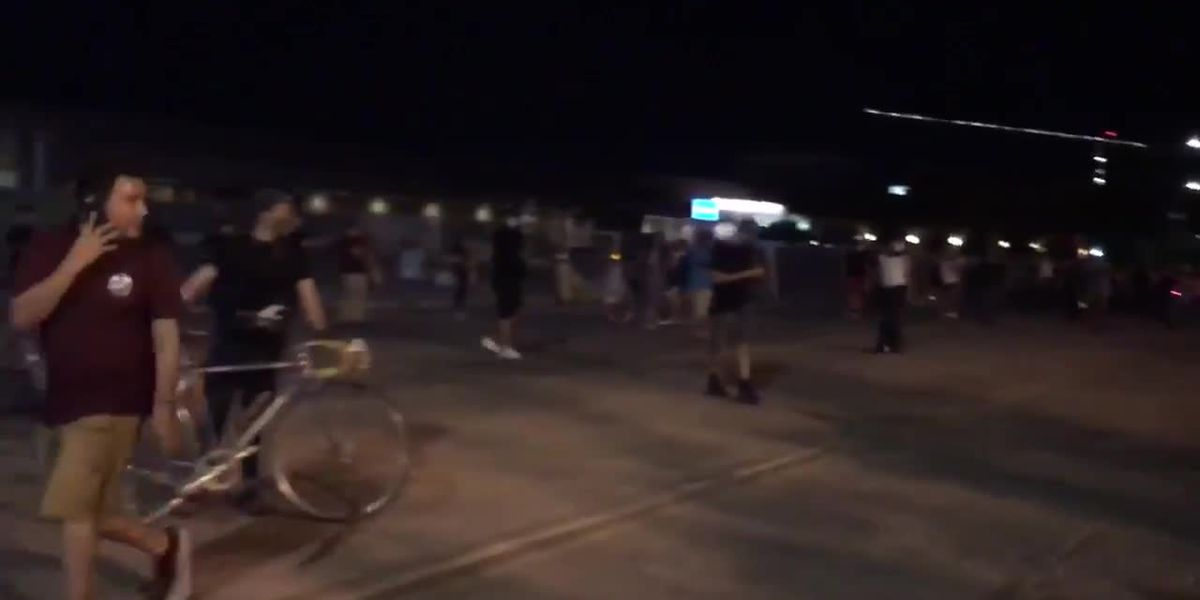 GRAPHIC CONTENT: Protesters descend on downtown Tucson