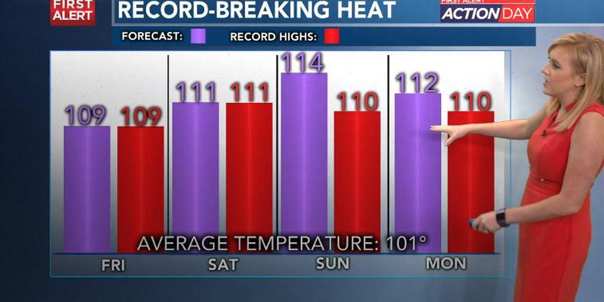 ACTION DAYS: Dangerous heat to last through Monday