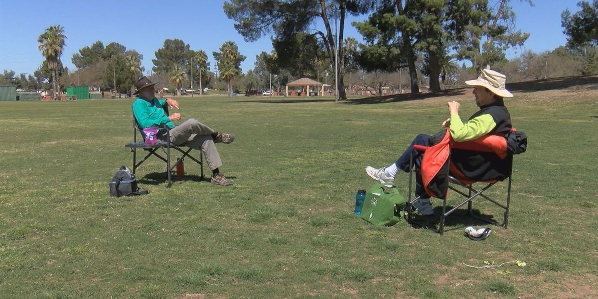 People head to parks, some practicing social distancing