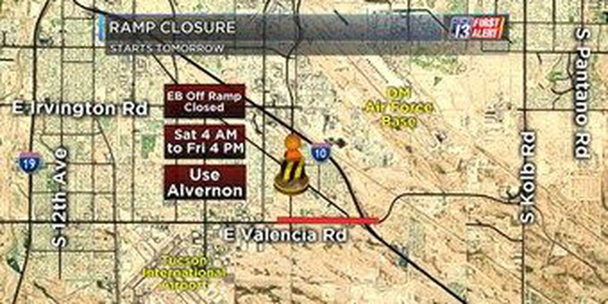 Construction: I-10 Ramp closure in place starting Saturday