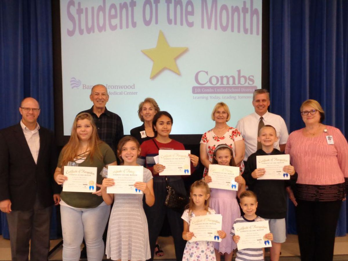 J.O. Combs Unified School District May Students of the Month