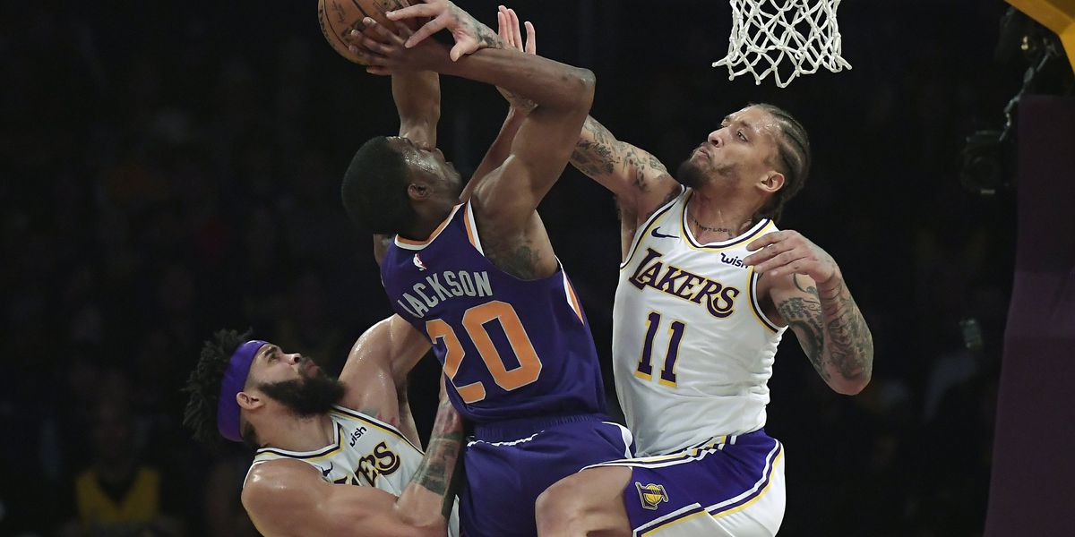 Zubac, Caldwell-Pope lead short-handed Lakers past Suns