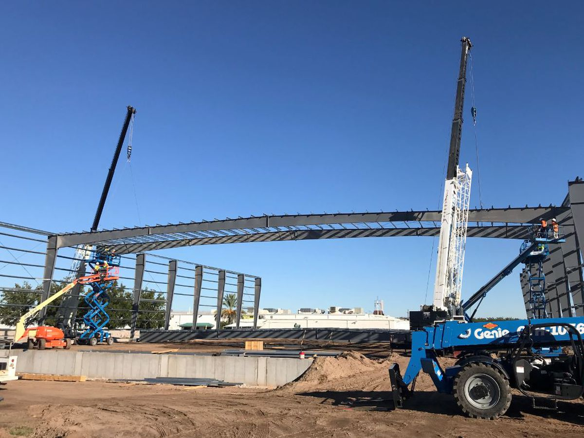 Construction of Green Valley Pecan Co. refrigerated warehouse begins new phase