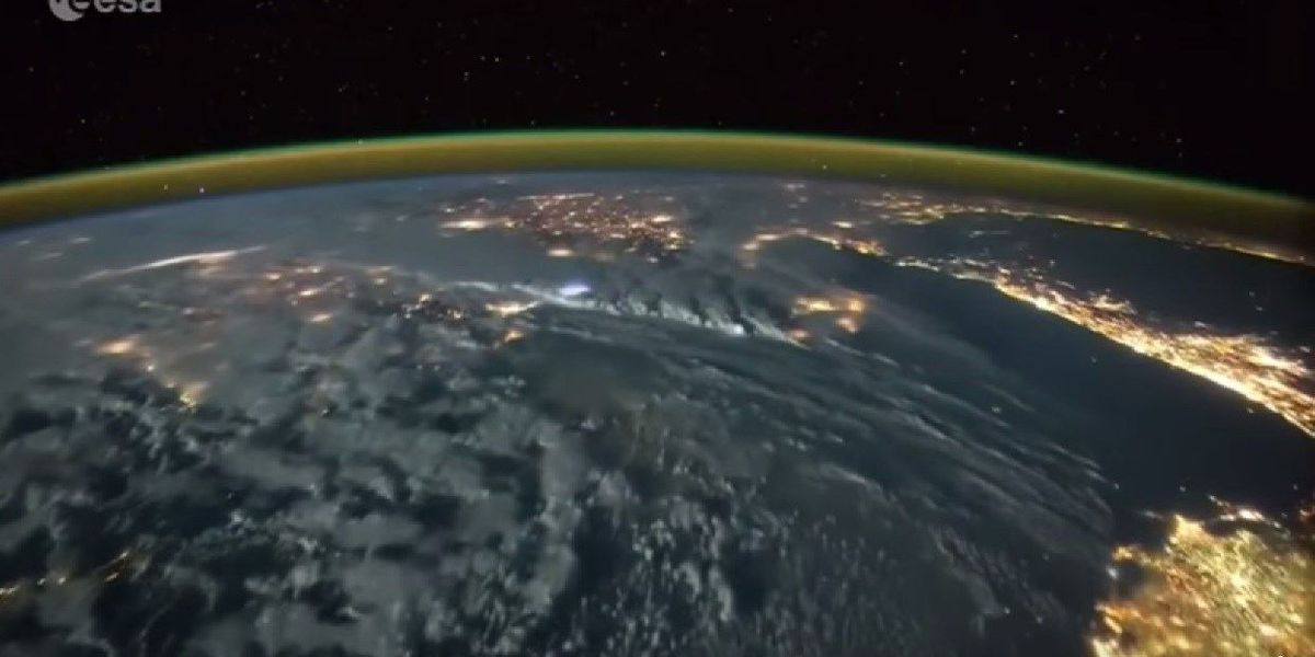 Lightning video from International Space Station
