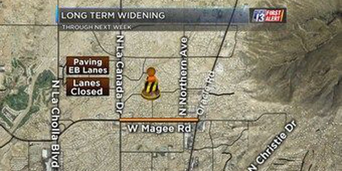 The Latest: Construction continues on Magee Road this week