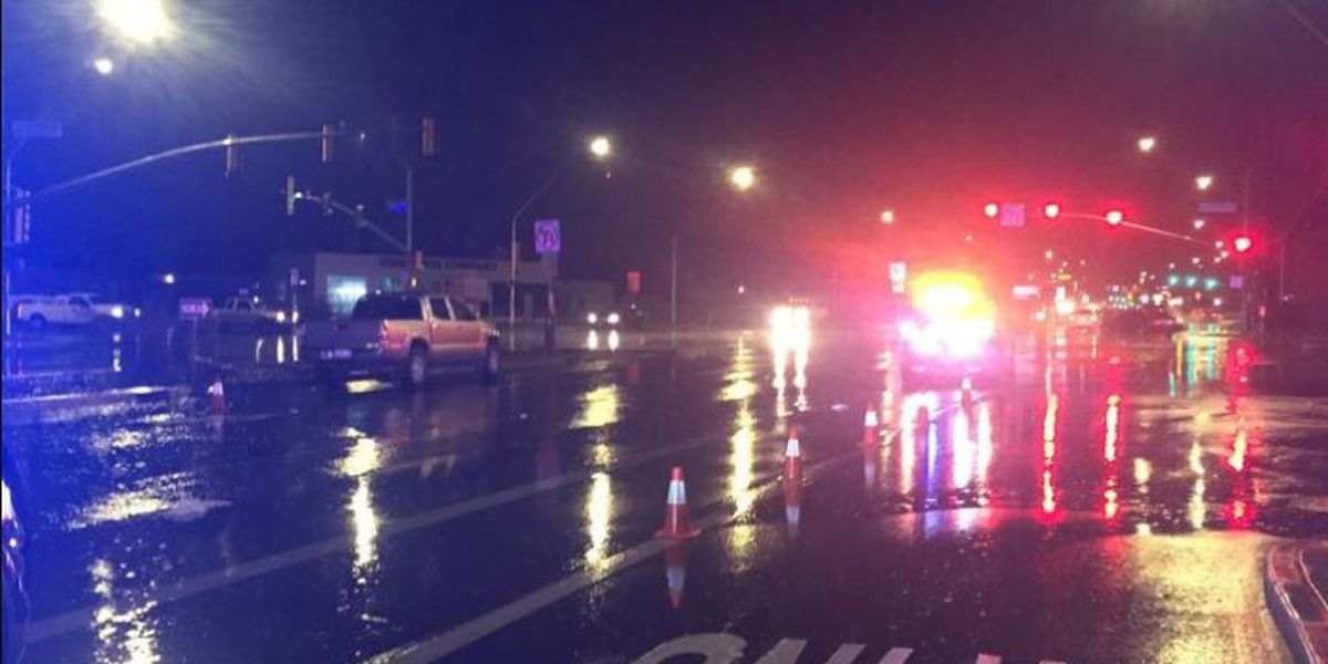 Pedestrian struck, taken to hospital for treatment of serious injuries
