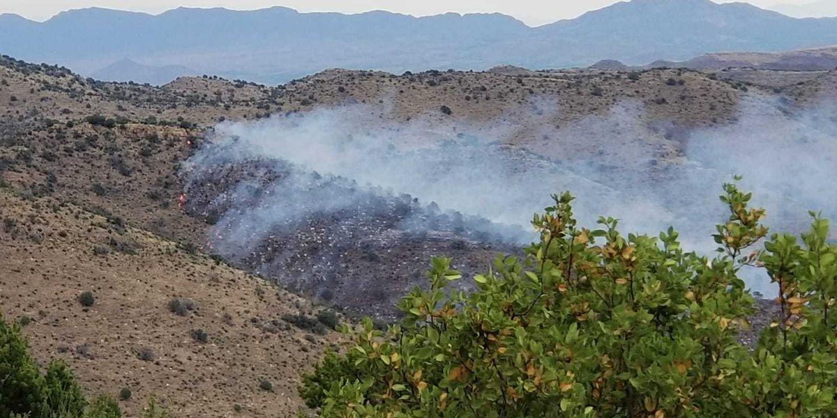 Juniper Flat Fire burning in Cochise County
