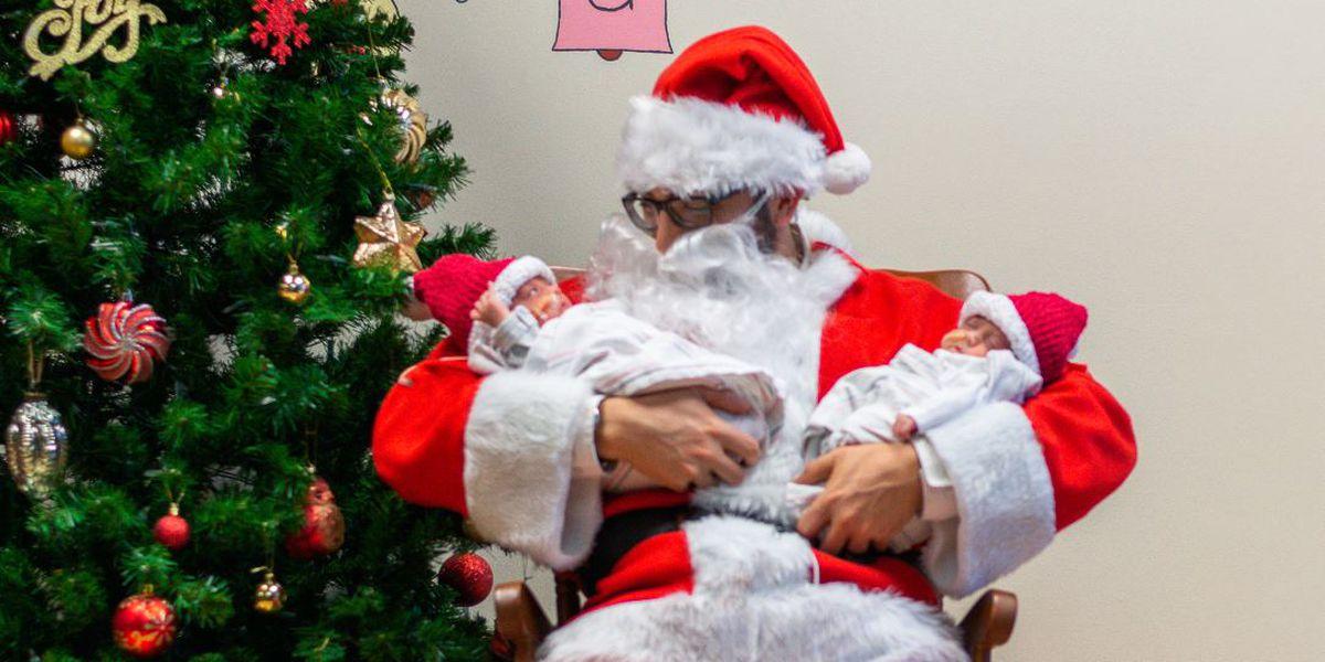 Santa spreads cheer among NICU families