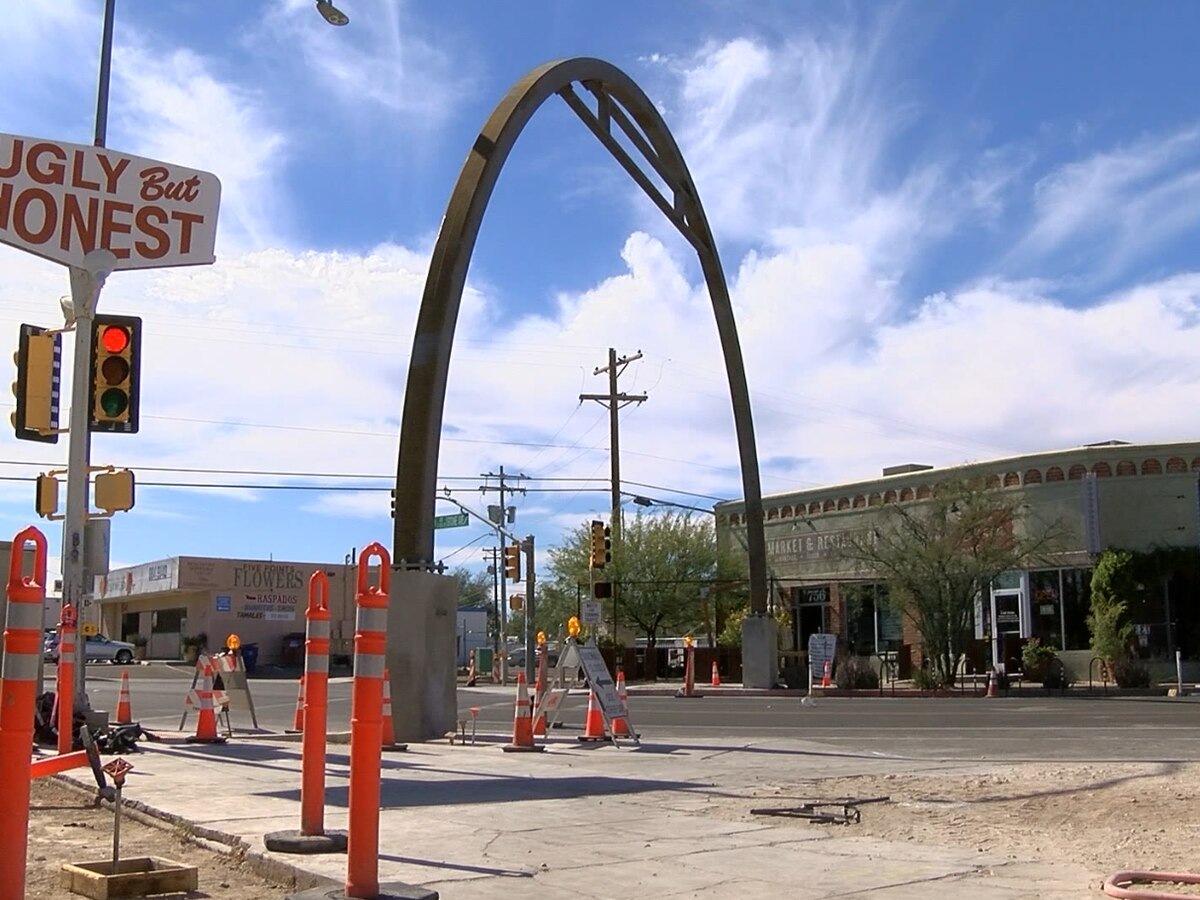 Five Points Intersection art project close to completion