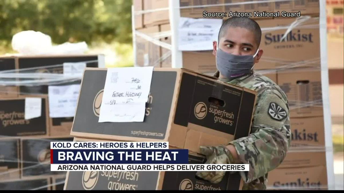 Aug. 18, 2020 Heroes and Helpers: AZ guard groceries