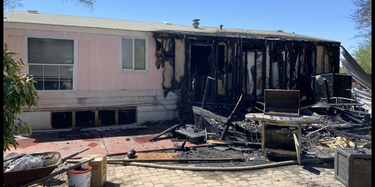 Avra Valley mobile home catches fire from BBQ grill
