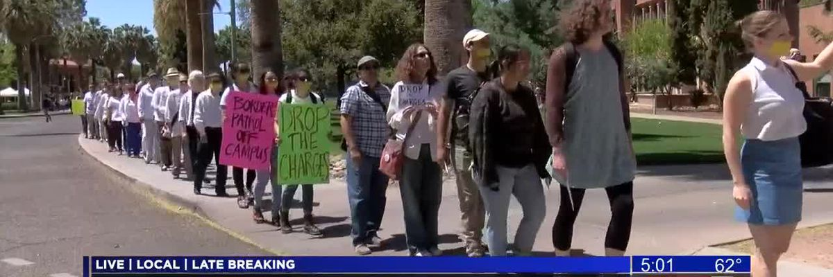 Silent protest for free speech