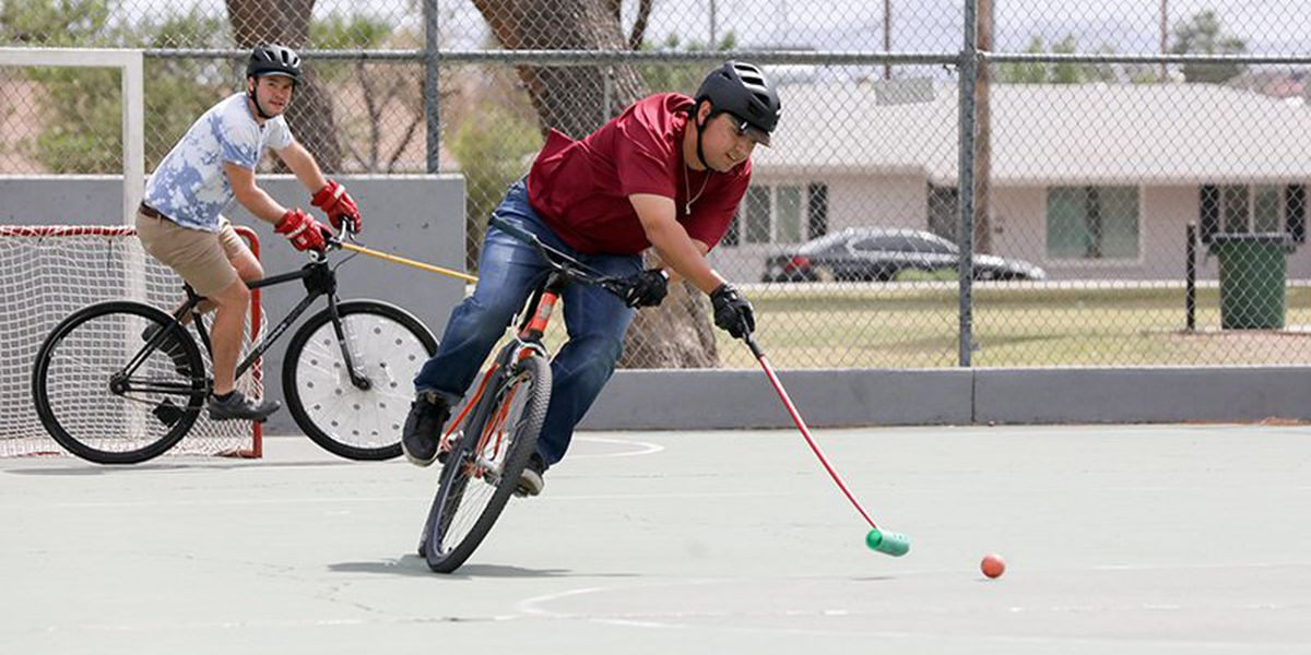 Polo with handlebars? Community bonds over upper crust sport that replaces horse with bike