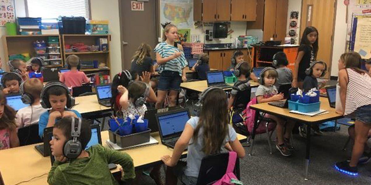 Greetings from Simonton Elementary Kindergarten Class!