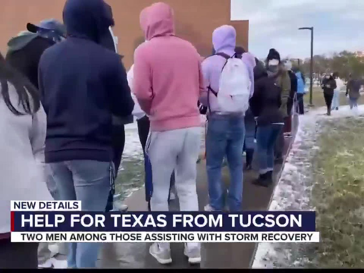 Two Arizona men travel to Texas to help with winter storm recovery