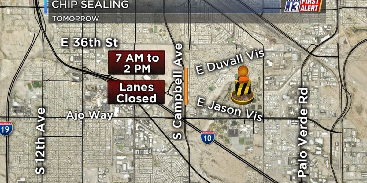 Construction: Chip sealing to slow cars on Campbell Ave