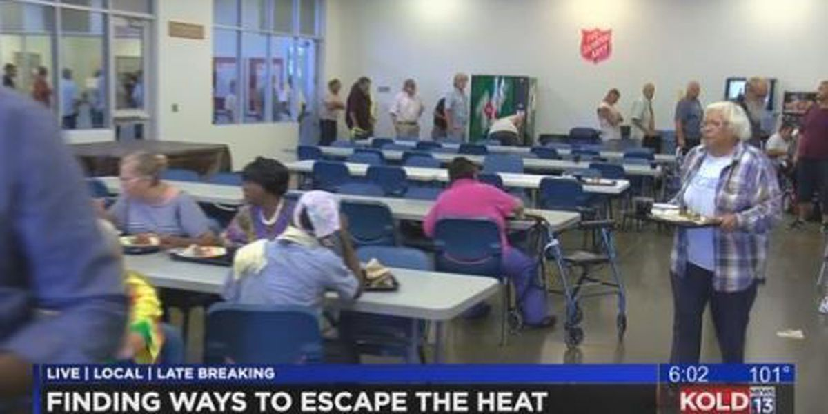Tucson homeless look to cool down as triple digit temperatures hit the desert