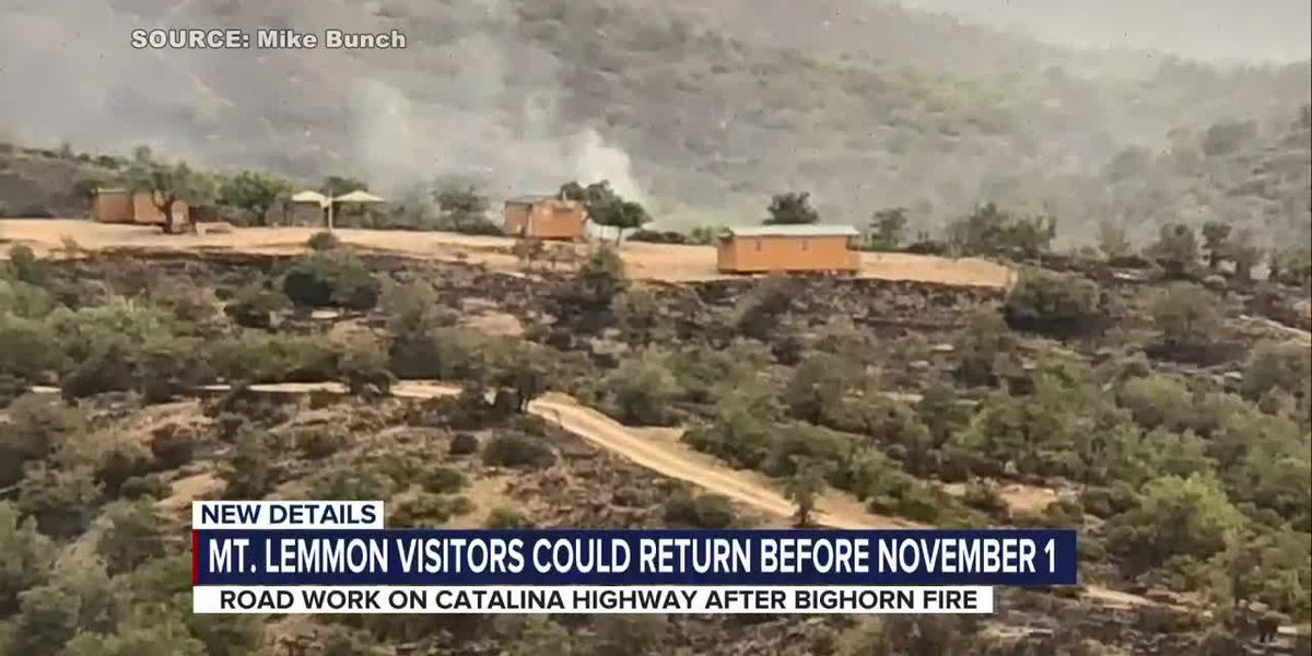 Catalina Highway expected to reopen before Nov. 1, officials say