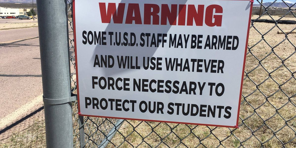 Tombstone Unified posts warning sign that staff is armed