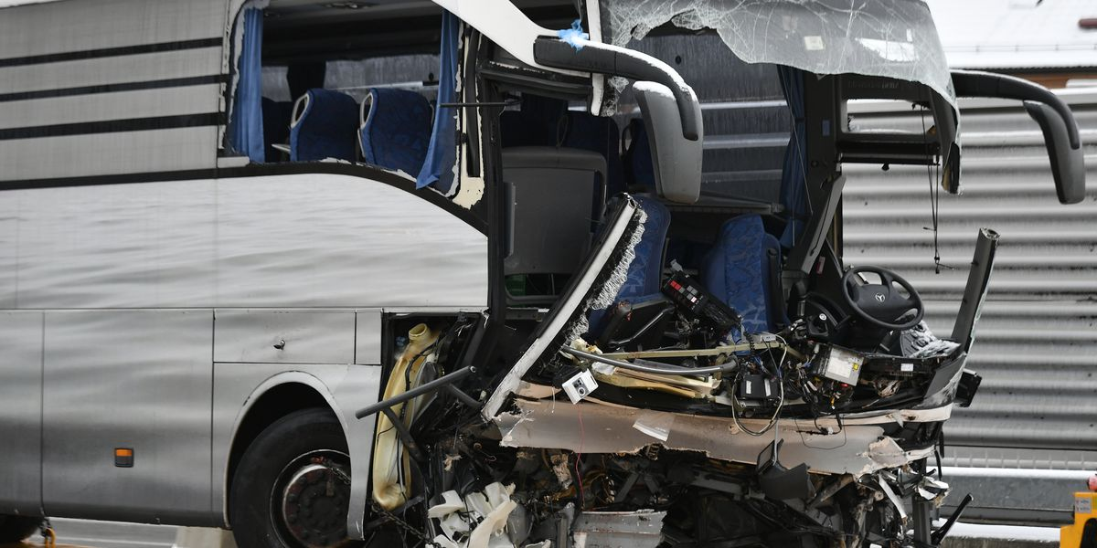 1 dead, 44 injured in Switzerland bus crash