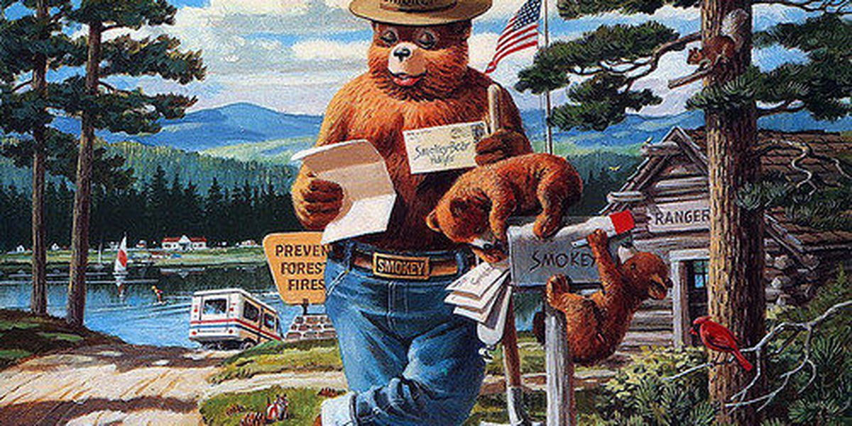Get free coloring book copies for Smokey Bear's birthday