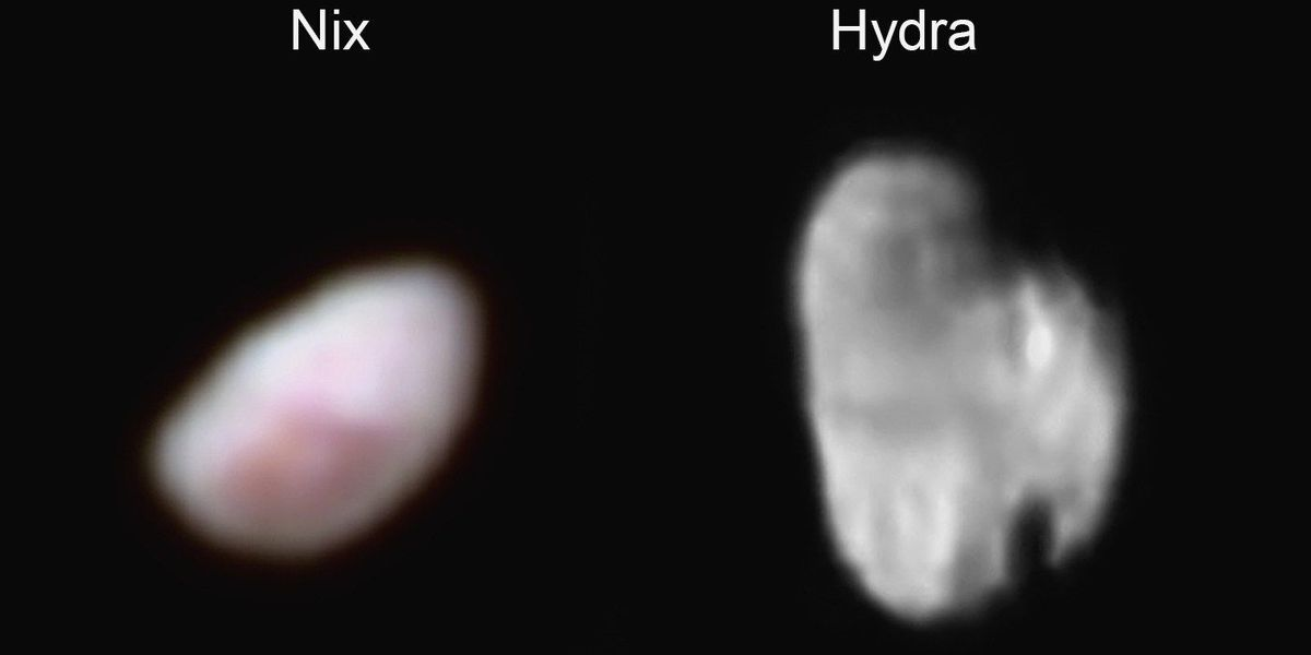 Closest view yet of two of Pluto's moons