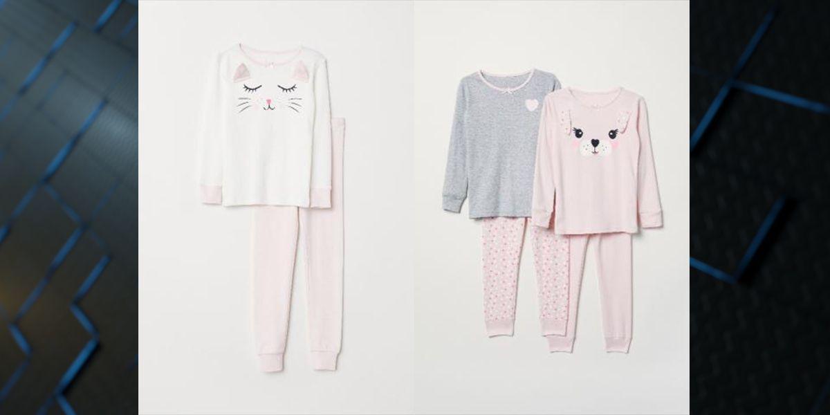 ALERT: Kids' pajamas from H&M recalled