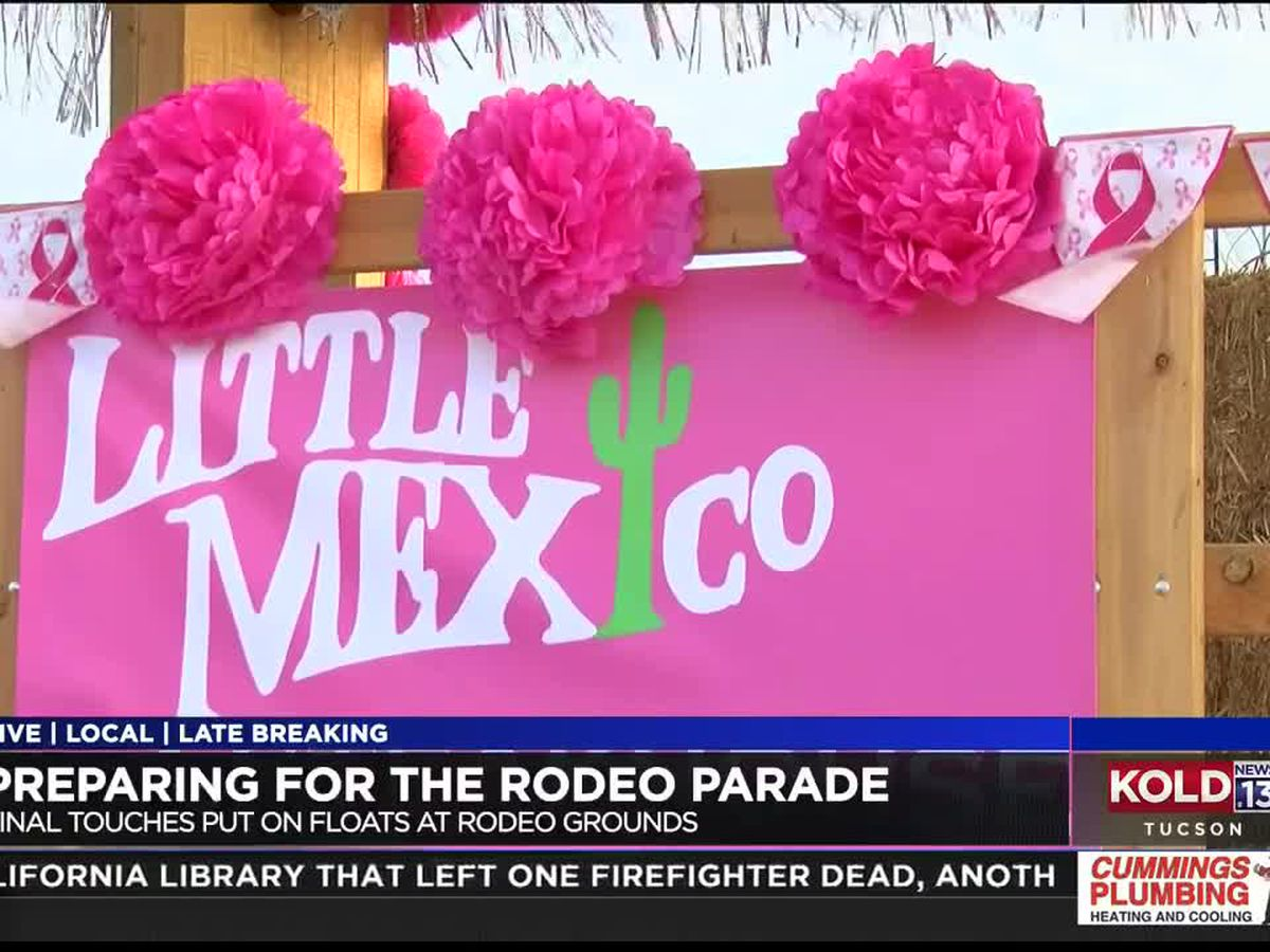 Preparing for the annual 95th Tucson Rodeo Parade