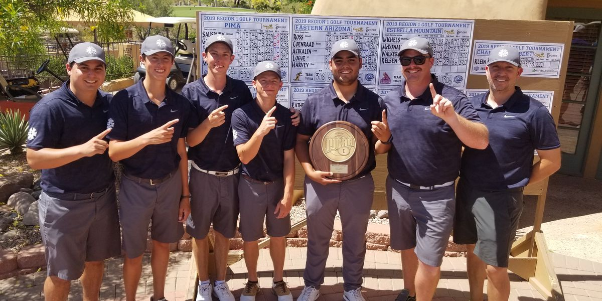 Pima Golf wins men's region title