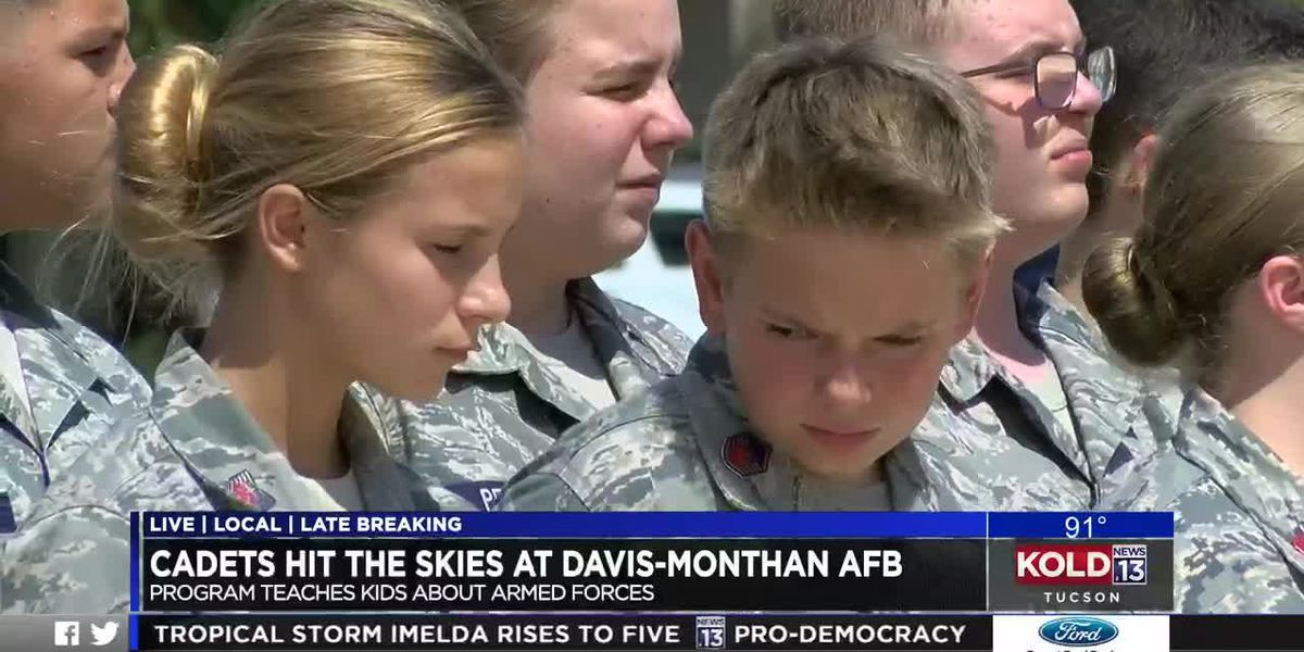 Civil Air Patrol cadets take flight from Davis-Monthan Air Force Base