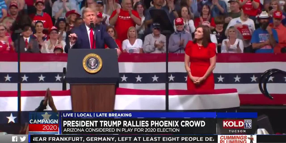 Supporters pack Phoenix area for Trump 2020 campaign rally