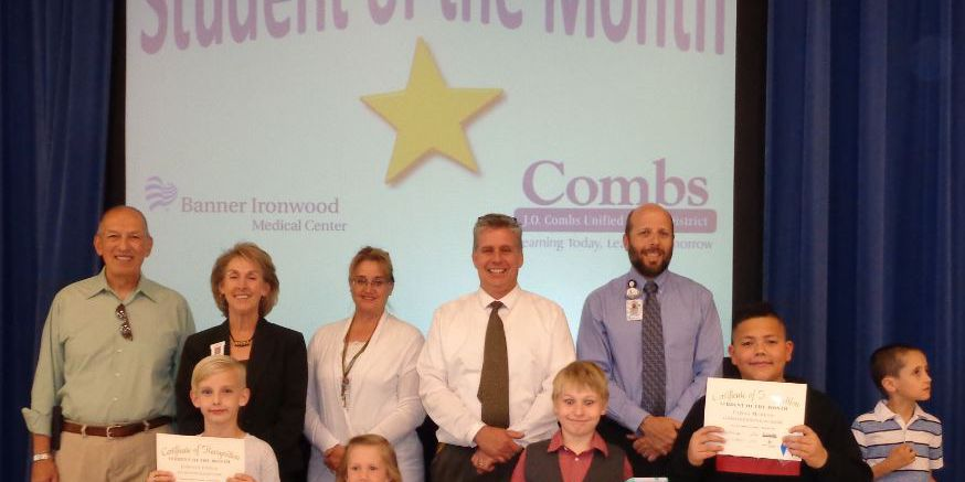 J.O. Combs Unified School District April Students of the Month