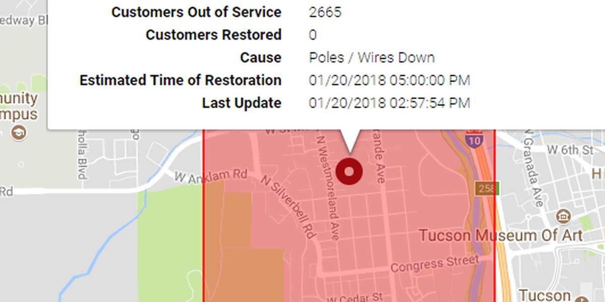 UPDATE: Power restored, intersections reopened on Tucson's west side