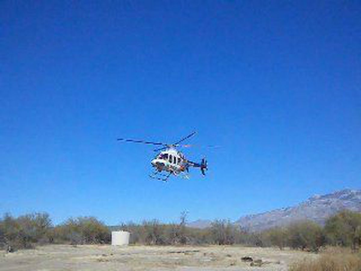 Hiker rescue in Sabino Canyon Sunday morning