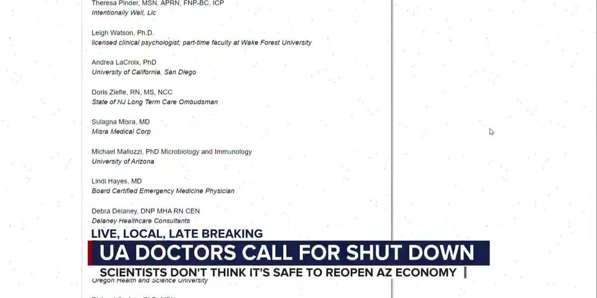 Medical professionals sign open letter to shut down economy for virus