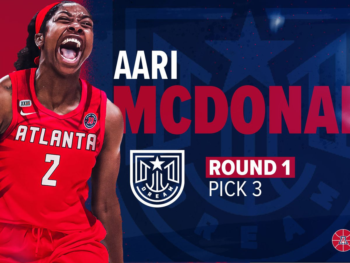 Atlanta takes UArizona's Aari McDonald with third pick