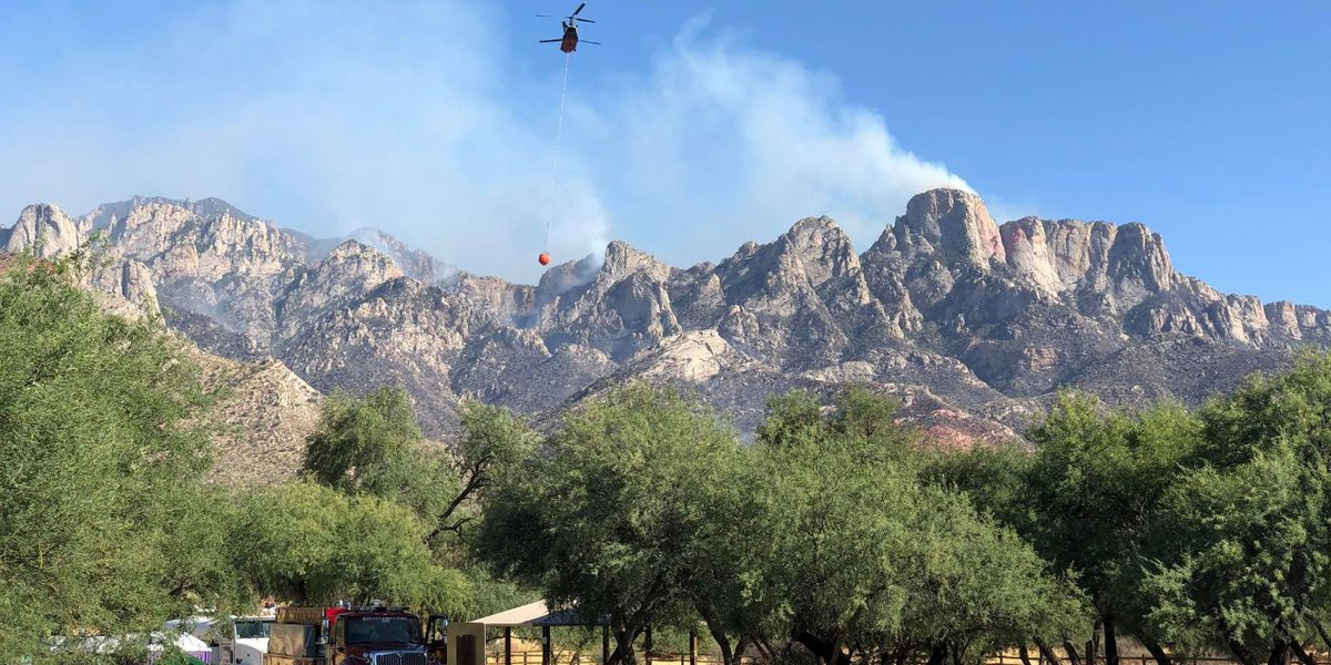 Fire crews' progress against Bighorn Fire halted by drone