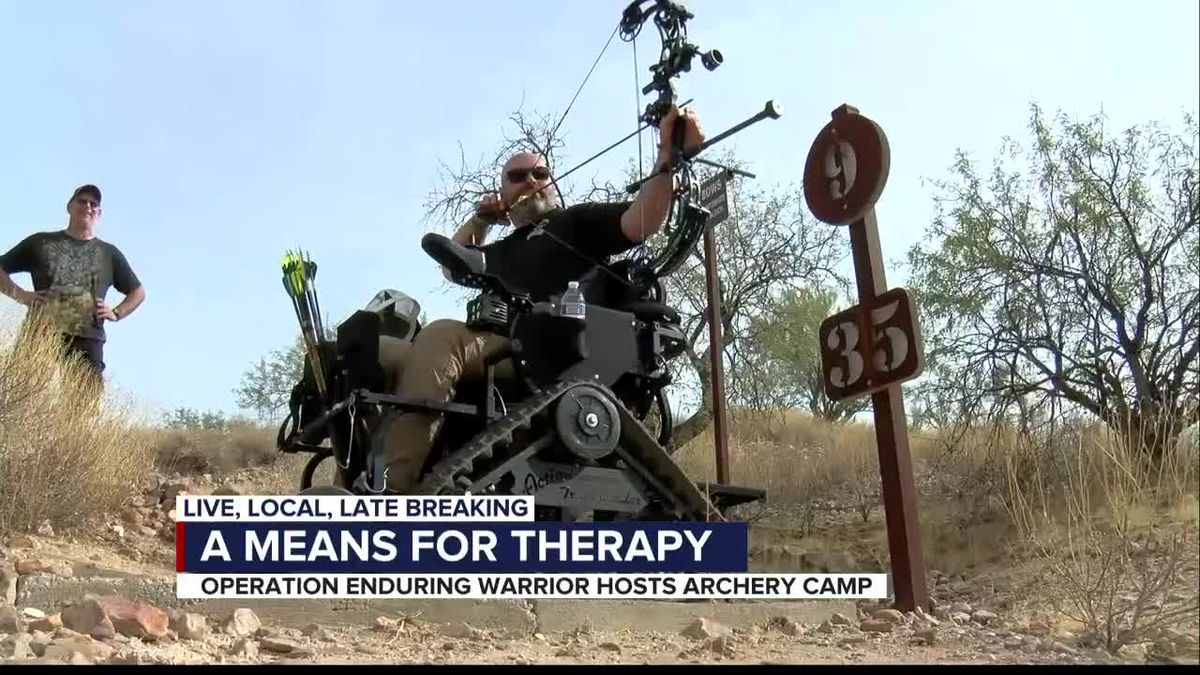 Wounded veterans use archery as a means to therapy