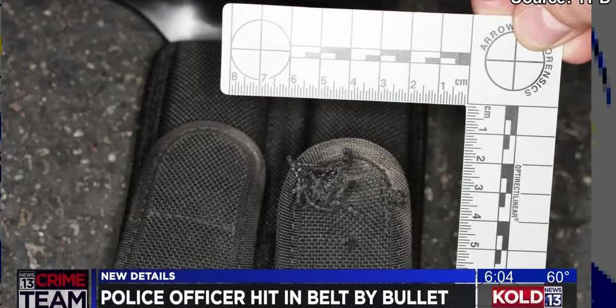 Police release records of incident where officer was shot in the belt