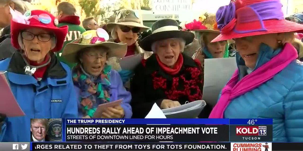 Hundreds in Tucson make voices heard on eve of impeachment vote