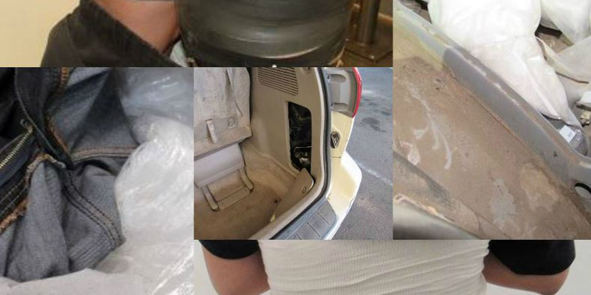 CBP Officers at Port of San Luis seize $478K in drugs, arrest 5