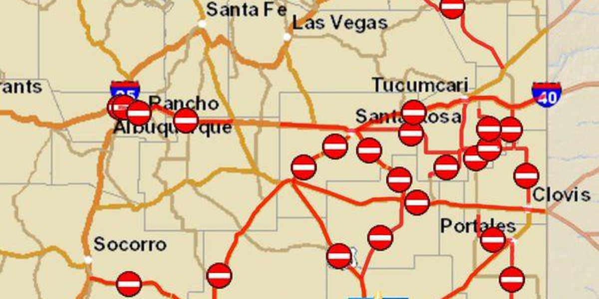 Severe weather forces road closures in NM, TX on texas road closures map, scdot road closures map, modot road closures map,