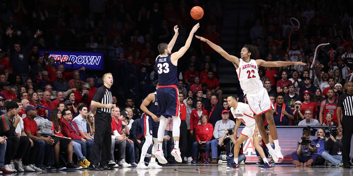 No. 6 Gonzaga survives late rally by No. 15 Arizona
