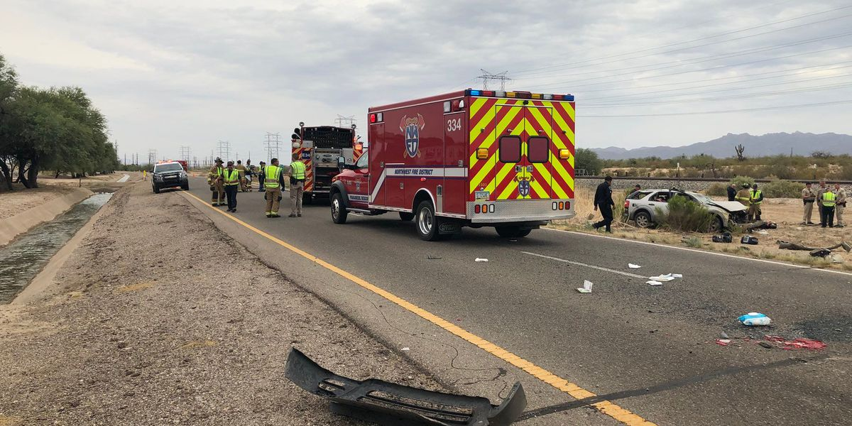 Rollover crash shuts down frontage road near Twin Peaks
