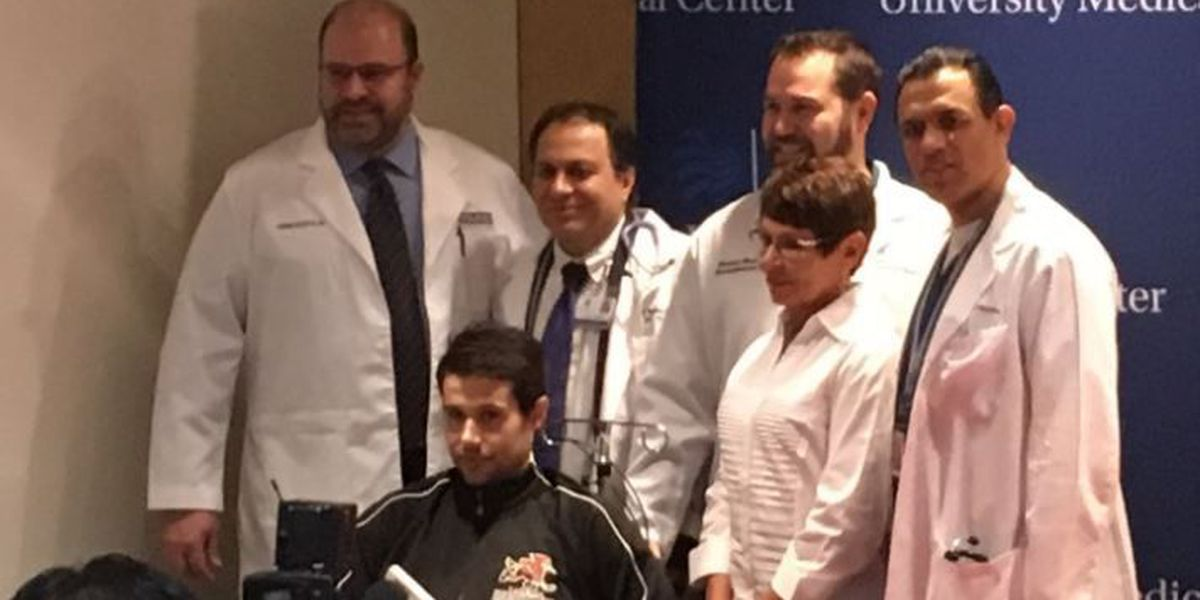 Cunningham thanks first responders, doctors for saving his life